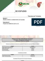 Programa de estudio de Turismo Módulo II Submódulo III