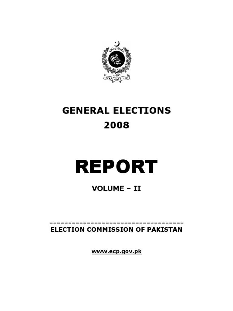 ReportGeneralElection2008Vol II