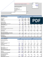 Financial model--Hammond Manufacture