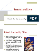 The Sanskrit Tradition