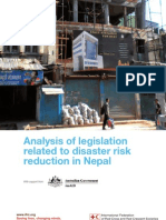 Analysis of Legislation Related to DRR in Nepal