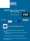 Jorum Open Archives Initiative (OAI) Interface