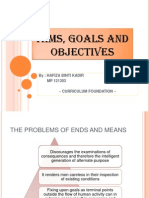 Aims, Goals and Objectives