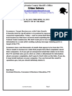 Crime Solvers Report 4/10/13-4/16/13