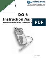 LaMotte 5-0107 Dissolved Oxygen MTR D06 Plus Handheld Instructions