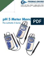 LaMotte 5-0034 pH Meter pH5 Plus Handheld Manual