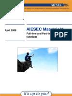 AIESEC Information Booklet April 09