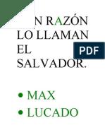 Lucado Max - Con Razon Lo Llaman El Salvador (Autoguardado)