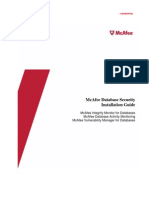 MFE DB Security Install Guide 4 0