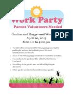 Spring Garden Work Party