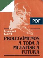 Kant Prolegomenos a Toda a Metafisica Futura