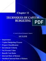 Chapter 11 Techniques of Capital Budgeting