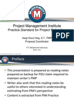 PMI Project Estimating