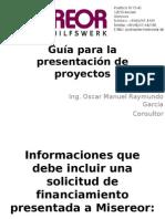 Guía para la presentación de proyectos