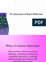 5b Importance of Buyer Behaviour