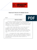 The Fast Track to Freer Trade, Cato Briefing Paper