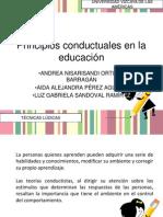 Principios conductuales en la educación