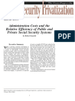 Administration Costs and the Relative Efficiency of Public and Private Social Security Systems, Cato Social Security Choice Paper No. 15