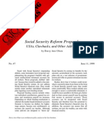 Social Security Reform Proposals