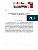 Special Operations Military Training Abroad and Its Dangers, Cato Foreign Policy Briefing No. 53