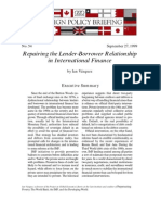 Repairing the Lender-Borrower Relationship in International Finance, Cato Foreign Policy Briefing No. 54