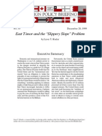 """East Timor and the """"Slippery Slope"""" Problem, Cato Foreign Policy Briefing No. 55"""