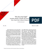 """""""We Own the Night:"""" Amadou Diallo's Deadly Encounter with New York City's Street Crimes Unit, Cato Briefing Paper No. 56"""
