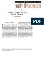 """""""Saving"""" Social Security Is Not Enough, Cato Social Security Choice Paper No. 20"""