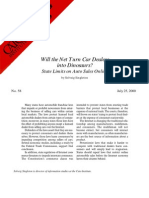 Will the Net Turn Car Dealers into Dinosaurs? State Limits on Auto Sales Online, Cato Briefing Paper No. 58