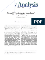 """Microsoft's """"Applications Barrier to Entry:"""" The Missing 70,000 Programs, Cato Policy Analysis No. 380"""