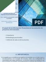 EL PAPEL DE LA INFORMACION FINANCIERA EN LA EVALUACIÓN  DE PROYECTOS DE INVERSIÓN