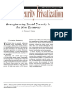 Reengineering Social Security in the New Economy, Cato Social Security Choice Paper No. 22