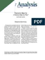 Economic Security