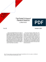 The Failed Critique of Personal Accounts, Cato Briefing Paper No. 68