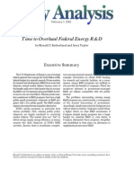 Time to Overhaul Federal Energy R&D, Cato Policy Analysis No. 424