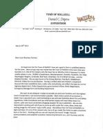 Depew's Letter