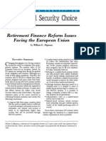 Retirement Finance Reform Issues Facing the European Union, Cato Social Security Choice Paper No. 28