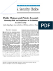 Public Opinion and Private Accounts