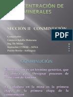 CONCENTRACIÓN DE MINERALES - CONMINUCION
