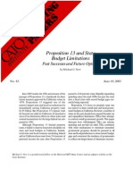 Proposition 13 and State Budget Limitations