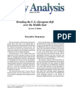 Mending the U.S.-European Rift over the Middle East, Cato Policy Analysis No. 485