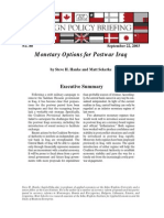 Monetary Options for Postwar Iraq, Cato Foreign Policy Briefing No. 80