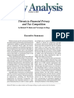 Threats to Financial Privacy and Tax Competition, Cato Policy Analysis No. 491