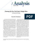 Cleaning Up New York State's Budget Mess, Cato Policy Analysis No. 506