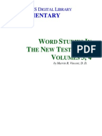 Word Studies in the New Testament - Vol 3