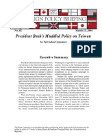 President Bush's Muddled Policy on Taiwan, Cato Foreign Policy Briefing No. 82