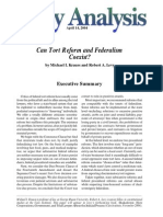 Can Tort Reform and Federalism Coexist?, Cato Policy Analysis No. 514