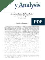 European Union Defense Policy