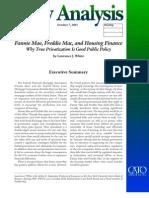 Fannie Mae, Freddie Mac, and Housing Finance