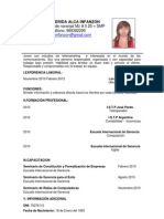 Sofia Nerida Alca Infanzon Curriculum